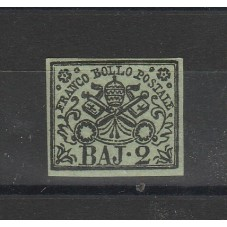 STATO PONTIFICIO 1854 2 BAJ...