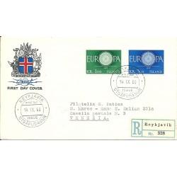 1960  ISLANDA ISLAND  FDC...