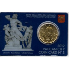 2012 VATICANO COIN CARD n.3...