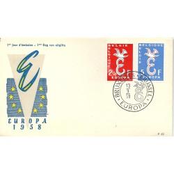1958 BELGIO BELGIE  FDC...