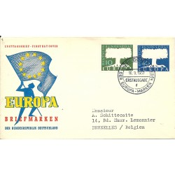 1957 GERMANIA GERMANY  FDC...