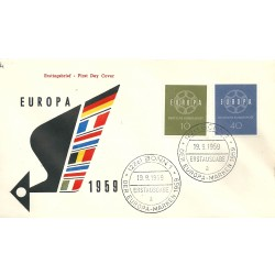 1959 GERMANIA GERMANY  FDC...