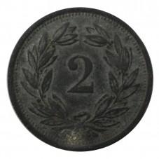 1944 SVIZZERA 2 RAPPEN - B...