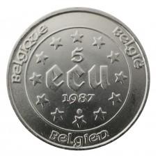 1987 BELGIO 5 ECU TRATTATI...