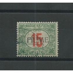 1915 FIUME SEGNATASSE 15 FILLER SOPRASTAMPA 2 TIPO 1 VAL USATO CAFFAZ MF23760
