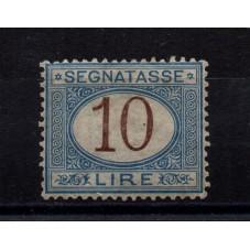 1874 REGNO SEGNATASSE 10...