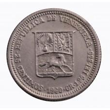 1960 VENEZUELA 25 CENTIMOS...