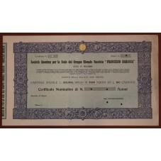 1926 CERTIFICATO AZIONARIO...