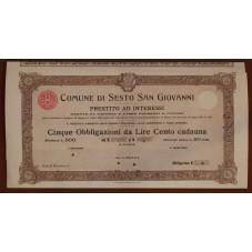 1908 N. 5 OBBLIGAZIONI DA...