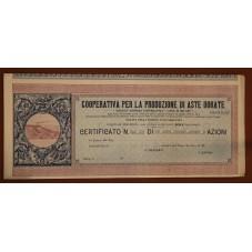 1907 CERTIFICATO AZIONARIO...