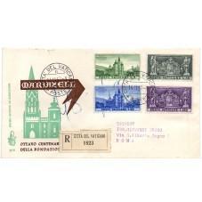 1957 FDC VENETIA VATICANO...