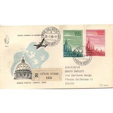 1958 FDC VENETIA VATICANO N...