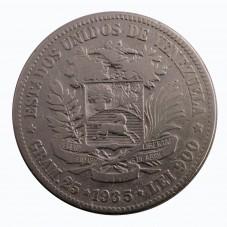 1935 VENEZUELA 5 BOLIVARES...