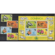 DOMINICA 1972 FLORA E FAUNA...