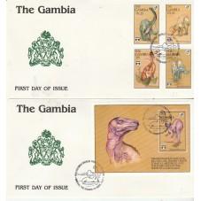 GAMBIA 1992  SERIE FAUNA...