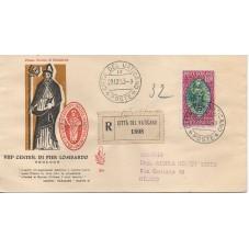 1953 FDC VENETIA VATICANO N...