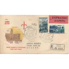 1954 FDC TRIESTE A FIERA DI...