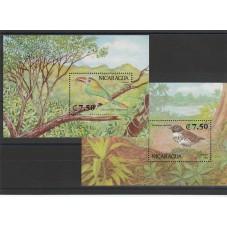 1991 NICARAGUA FAUNA  2  BF...