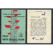 TESSERA PSI / ANNO 1957 /...