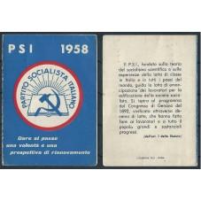 TESSERA PSI ANNO 1958 /...