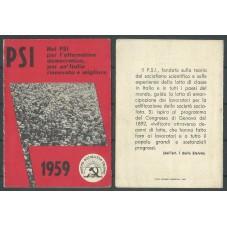 TESSERA PSI / ANNO 1959 /...
