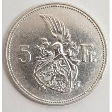 1929 LUSSEMBURGO 5 FRANCHI...