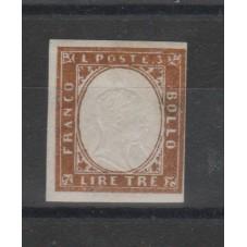 1855-63 SARDEGNA 3 LIRE...
