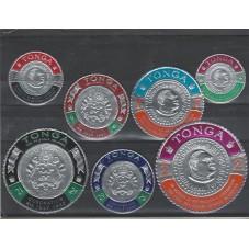 TONGA 1967   SERIE MONETE...