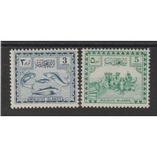 MALDIVES 1953 FAUNA PESCI E...