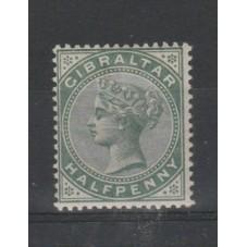 1886 GIBILTERRA  HAL F...