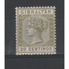1895 GIBILTERRA 20 CENT...