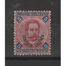 1893 ERITREA 5 LIRE...