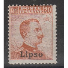 1917 ISOLE EGEO LIPSO 20 C...