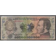 HONDURAS 1985 BANCONOTA 5...