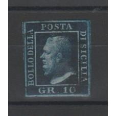 1859 SICILIA - 10gr AZZURRO...