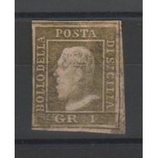 1859 SICILIA 1 GRANA VERDE...