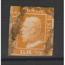 1859 SICILIA 1/2 GRANA...