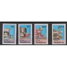 MALDIVES 1990  TRENI VALORI...