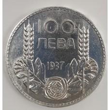 1937 BULGARIA 100 LEVA...