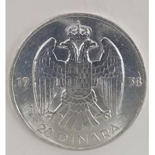 1938 YUGOSLAVIA 20 DIANARA...