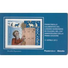 2012 TESSERA FILATELICA...