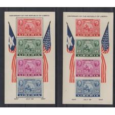 LIBERIA 1947 CENTENARIO...