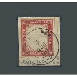 1860 SARDEGNA 40 CENT...