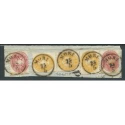 1863 AUSTRIA 3 x 2 K GIALLO...