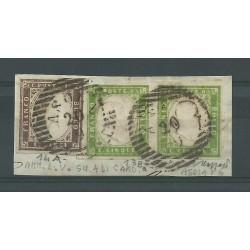 1859 SARDEGNA 2 x 5 C VERDE...