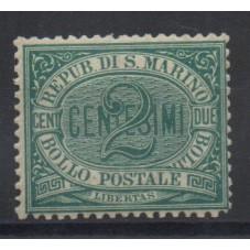 1877 SAN MARINO CIFRA...