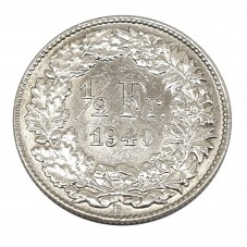 1940 SVIZZERA 1/2 FRANCO -...