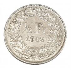 1943 SVIZZERA 1/2 FRANCO -...