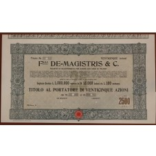 1913 TITOLO AL PORTATORE 25...