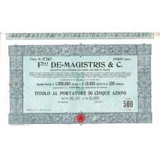 1907 TITOLO AL PORTATORE 5...